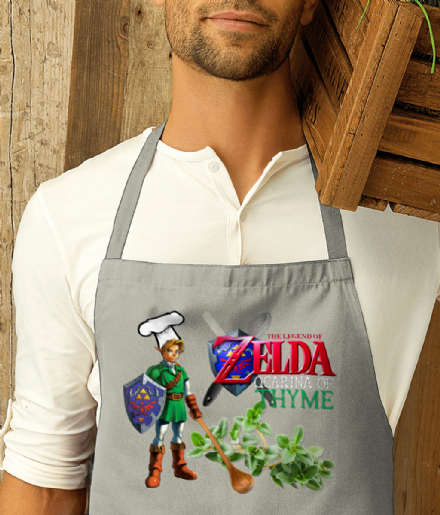 Ocarina of Thyme Kitchen Apron Inspired by The Legend Of Zelda